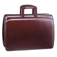 Jack Georges Elements Double Gusset Top Zip Briefcase in Burgundy