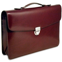 Jack Georges Elements Slim Briefcase in Burgundy