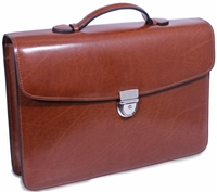 Jack Georges Elements Slim Briefcase in Cognac