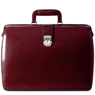 Jack Georges Elements Classic Leather Briefbag in Burgundy