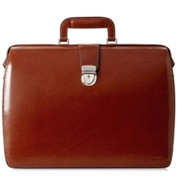 Jack Georges Elements Classic Leather Briefbag in Cognac
