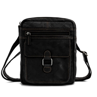 Jack Georges Voyager Slim Crossbody in Black