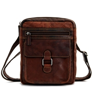 Jack Georges Voyager Slim Crossbody in Brown