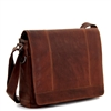 Jack Georges Voyager Full Size Messenger Bag in Brown