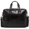 Jack Georges Voyager Large Double Gusset Briefcase in Black