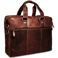 Jack Georges Voyager Large Double Gusset Briefcase in Brown