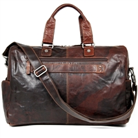 Jack Georges Voyager Leather Daybag Duffel in Brown