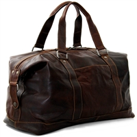 "Jack Georges Voyager Leather 18"" Duffel in Brown"