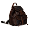 Jack Georges Voyager Travel Drawstring Backpack in Brown