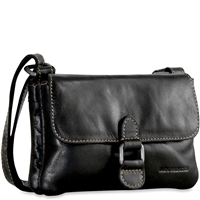 Jack Georges Voyager Mini Crossbody Bag in Black