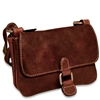 Jack Georges Voyager Mini Crossbody Bag in Brown