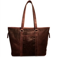 Jack Georges Voyager Shopper Tote in Brown