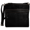 Jack Georges Voyager Top Zip Crossbody Bag in Black