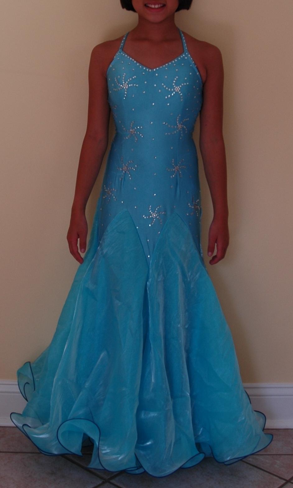 Tiffany Blue Color Code >> Kids Ruffle Ballroom Dress