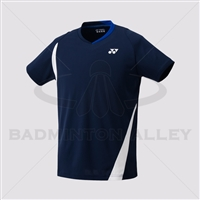 Yonex 10177EX Men Crew Neck Shirt (Color: Navy Blue)