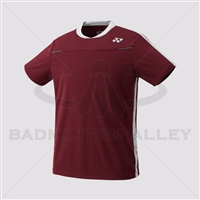Yonex 10178EX Men Crew Neck Shirt (Color: Dark Wine)