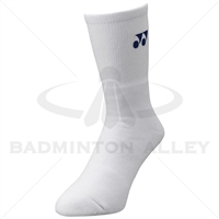 Yonex 19120EX Sport Crew Socks White (Made in Japan)