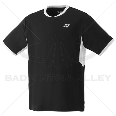 Yonex YM0010EX Men Crew Neck Shirt (Color: Black)