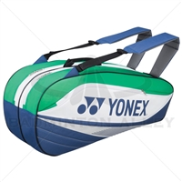 Yonex 7526-EX Blue Green Badminton Tennis 6 Rackets Bag