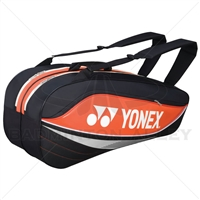 Yonex 7526-EX Orange Badminton Tennis 6 Rackets Bag