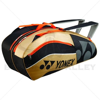 Yonex 8526-EX Black Gold Tournament Active Badminton Tennis Bag