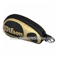 Wilson Mini Souvenir Coin Black Gold Bag with Keychain