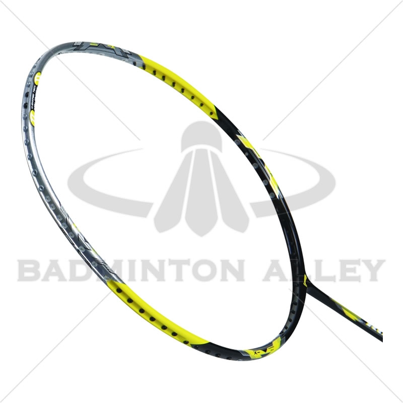 li ning rocks 500 black yellow badminton racket
