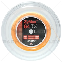 Ashaway ZyMax 64TX (0.64mm) 200m/660ft Badminton String Reel - Orange