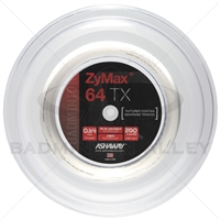 Ashaway ZyMax 64TX (0.64mm) 200m/660ft Badminton String Reel - White