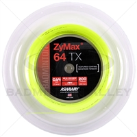 Ashaway ZyMax 64TX (0.64mm) 200m/660ft Badminton String Reel - Yellow