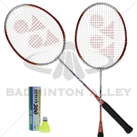 Combo Recreational Set Yonex 2-B350 Rackets 1-Mavis 300 Yellow Shuttlecock