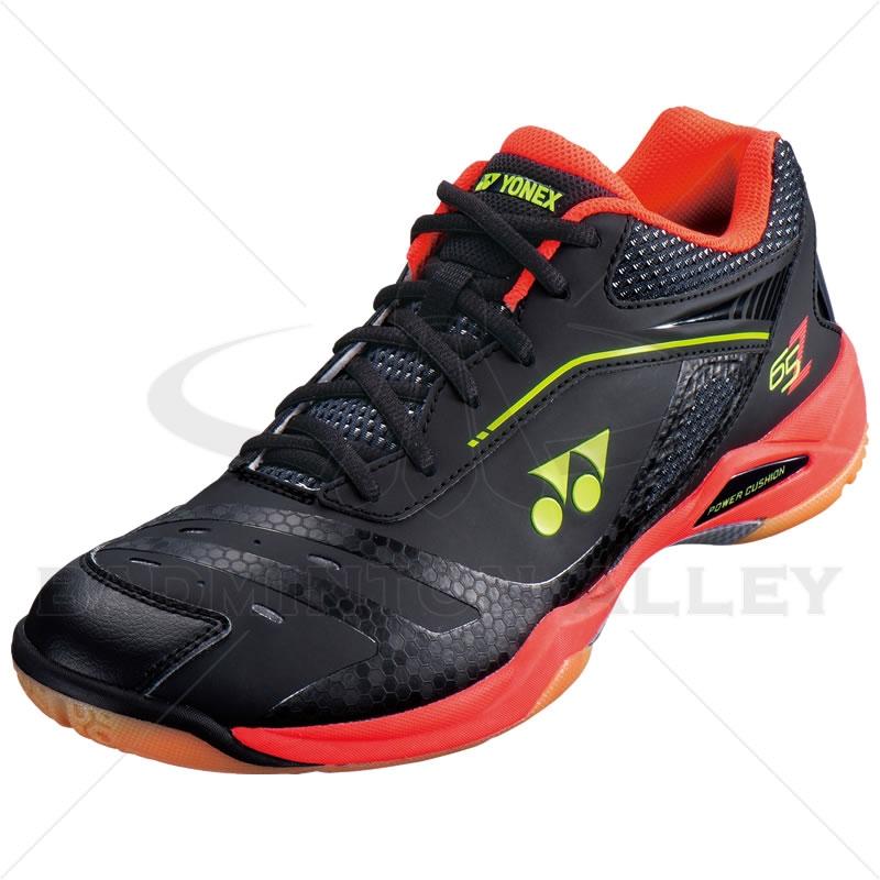 a21e15a802a8 Yonex SHB-65ZM Black Bright Red Badminton Shoes