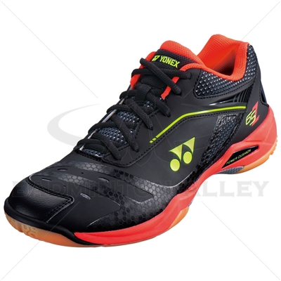 Yonex SHB-65ZM Black Bright Red Badminton Shoes
