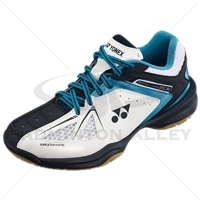 Yonex Power Cushion 35 Junior White Sky Blue Badminton Shoes