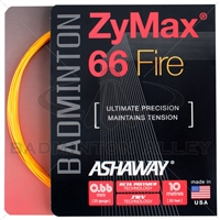 Ashaway ZyMax 66 Fire (0.66mm) Badminton String - Orange
