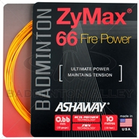 Ashaway ZyMax 66 Fire Power (0.66mm) Badminton String - Orange