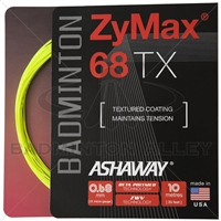 Ashaway ZyMax 68TX (0.68mm) Badminton String - Yellow