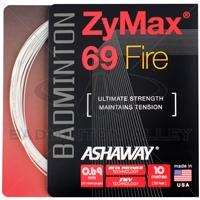 Ashaway ZyMax 69 Fire (0.69mm) Badminton String - White