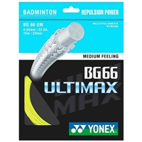 Yonex BG-66 (BG66UM) Ultimax Yellow Badminton String