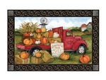 Pumpkins For Sale Floor Mat by Studio M. Printed in the USA.