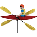 Kayak with yellow oars that spin in a gentle breeze. All hardware included.