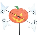 Jack O Lantern with ghosts spinning around it in a gentle breeze. All hardware included.