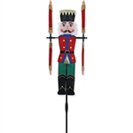 Nutcracker Garden Spinner whose arms spin with a gentle breeze.