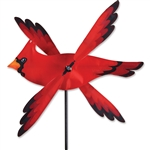 Cardinal Whirligig Garden Spinner whose wings spin in a gentle breeze. All hardware included.