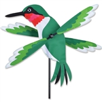 Hummingbird Whirligig Garden Spinner whose wings spin in a gentle breeze. All hardware included.