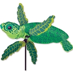 Baby Sea Turtle Whirligig Garden Spinner whose arms spin with a gentle breeze. All hardware included.