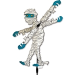 Mummy Whirligig Garden Spinner whose arms spin in a gentle breeze. All hardware included.
