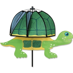 Pond Turtle Mushroom Garden Spinner that spins with a gentle breeze. All hardware included.