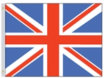 Patriotic United Kingdom Flag that measures three feet by 5 feet with grommets.
