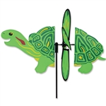 Pond Turtle Petite Garden Spinner with wings that spin with a gentle breeze. All hardware included.
